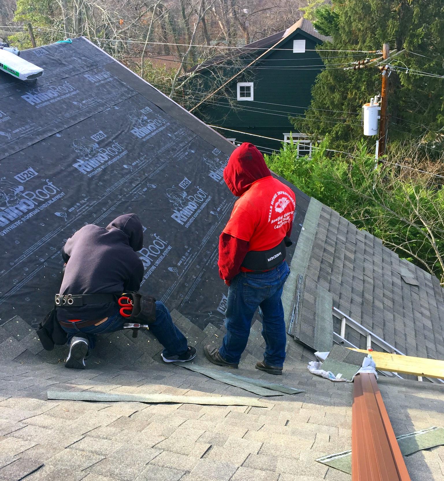 Storm Damaged roof in Severna Park